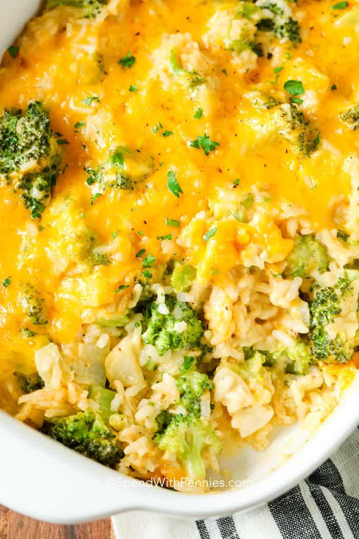 Broccoli-Cheese Rice Casserole