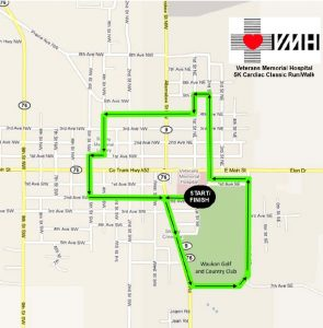 Veterans Memorial Hospital Offers 5K Route to the Community