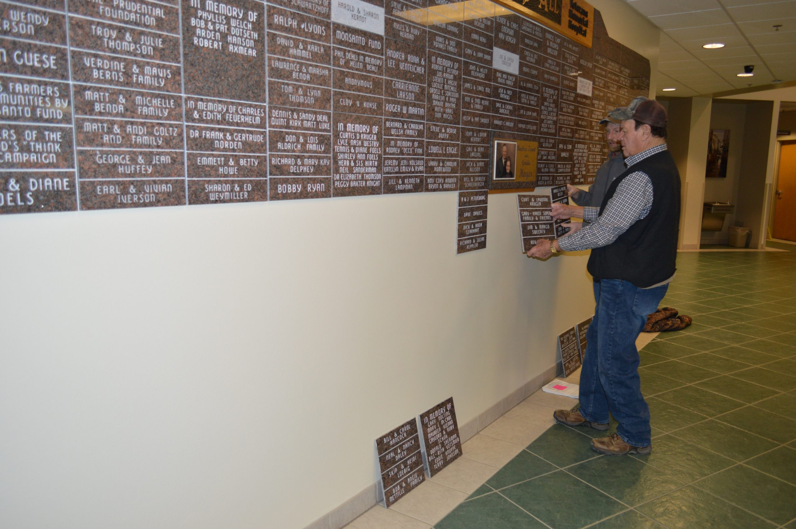 Veterans Memorial Hospital Foundation Donor Wall Updated