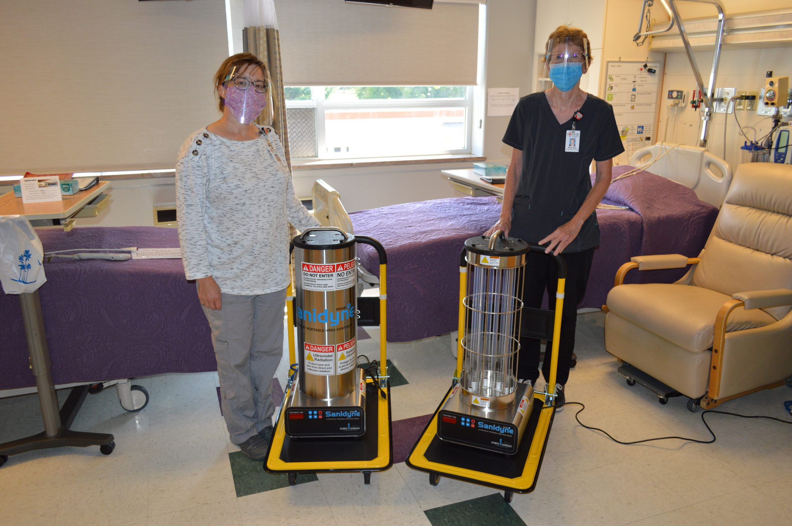 New Ultra-Violet Lights at VMH for Sanitizing Patient Rooms