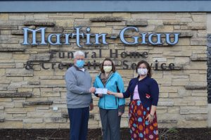 Read more about the article Veterans Memorial Health Care Foundation Receives A Generous Donation from Martin-Grau Funeral Home