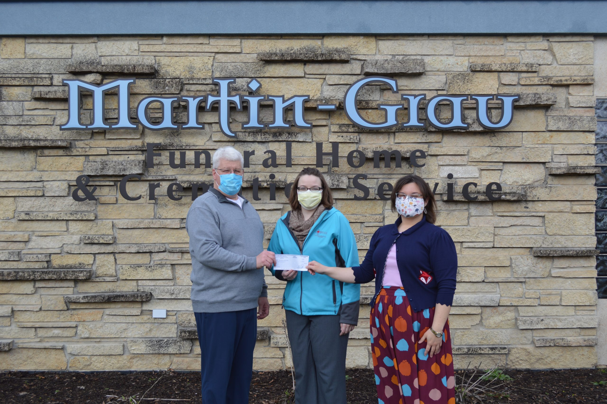Veterans Memorial Health Care Foundation Receives A Generous Donation from Martin-Grau Funeral Home